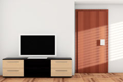 Smart TV au-dessus de raboteuse Photos stock