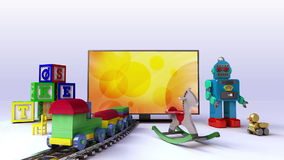 Smart TV contents for kids and game,concept stock video footage