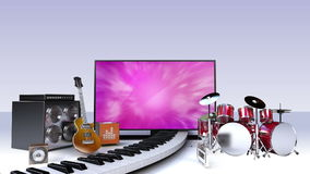 Smart TV, entertainment TV channel contents for music concept stock video