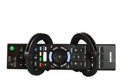 Smart tv för fjärrkontroll Arkivfoto