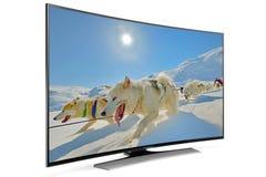 Smart tv för kurva Royaltyfri Foto