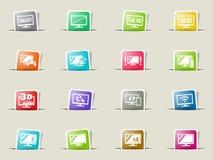 smart tv icon set Royalty Free Stock Photo