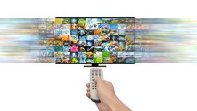 Smart TV and internet streaming multimedia royalty free stock photos