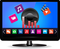 Smart TV. Internet television concept Colorful application icons Stock Image