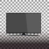 Smart tv led monitor isolated on transparent background vector illustration
