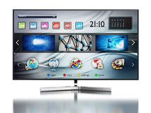 Smart TV montrant l'écran principal Photos libres de droits