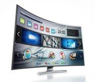 Smart TV montrant l'écran principal Photo libre de droits
