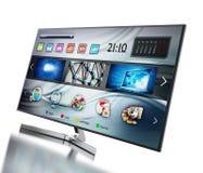 Smart TV montrant l'écran principal Images stock