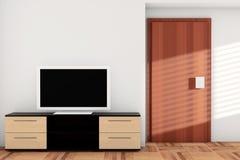Smart TV over Dresser Stock Photos