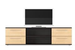 Smart Tv over dresser Royalty Free Stock Photos
