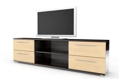 Smart Tv over dresser Stock Photo