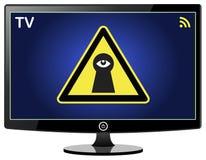 Smart TV remarquant sur vous Images libres de droits
