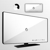 Smart tv and smartphone Royalty Free Stock Images