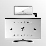 Smart tv and smartphone buttons Stock Photos