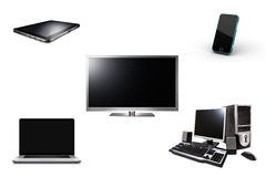 Smart TV Tablet Laptop Phone Computer Royalty Free Stock Photography