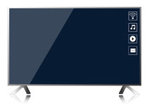 Smart TV  vector. Icon Royalty Free Stock Image