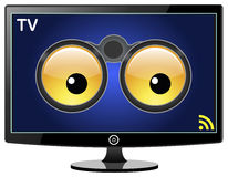 Smart TV is watching You vector illustration