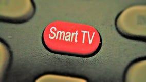 Smart TVknapp Arkivfoton