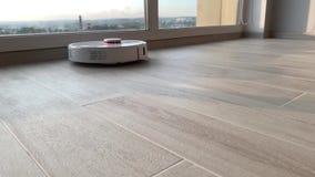 smart utg?ngspunkt Robotdammsugare utför automatisk lokalvård av lägenheten på en bestämd tid lager videofilmer