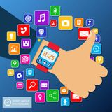 Smart watch background Stock Photography