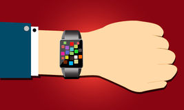 Smart watch concept in hand. Vector Royalty Free Stock Photos
