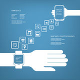 Smart watch concept Royalty Free Stock Photo