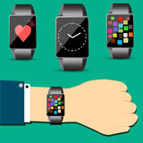 Smart watch concept vector Royalty Free Stock Photography