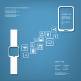 Smart watch concept vector illustration Royalty Free Stock Photography