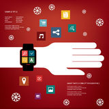 Smart watch concept vector illustration with Royalty Free Stock Photography