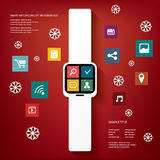Smart watch concept vector illustration with Royalty Free Stock Images