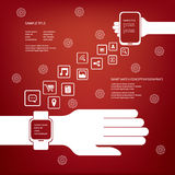 Smart watch concept vector infographics Royalty Free Stock Images