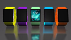 Smart watch. Creative business mobility and modern mobile wearable device technology concept. Royalty Free Stock Photography