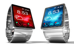 Smart watch. Creative business mobility and modern mobile wearable device technology concept. Royalty Free Stock Images