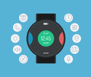 Smart watch design flat illustration concept Stock Image