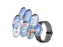 Smart watch with different apps Stock Images