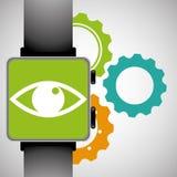 smart watch eye gear wearable technology Stock Image