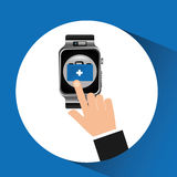 Smart watch first aid box wearable healthy Royalty Free Stock Photography
