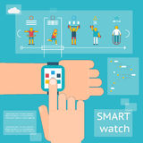 Smart watch fitness tracker Stock Photography