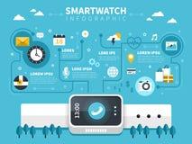 Smart watch flat design Royalty Free Stock Photo