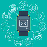 Smart watch flat Stock Photography