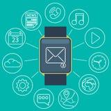 Smart watch flat Stock Photography