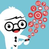 Smart watch gadget concept cartoon illustration Stock Images