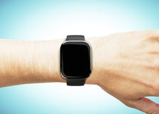 Smart watch on the hand Stock Image