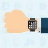 Smart watch on hand Royalty Free Stock Photography
