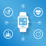 Smart watch for Health Royalty Free Stock Images