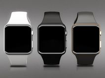 Smart watch High resolution. Smart watch On a gray background High resolution Stock Photos