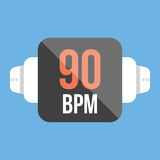 Smart watch icon. flat style Royalty Free Stock Photos