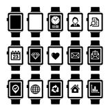 Smart Watch Icon Set. Royalty Free Stock Images