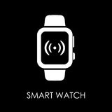Smart watch icon symbol flat style vector illustration.  Royalty Free Stock Images