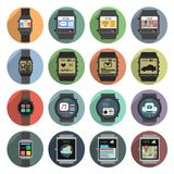 Smart Watch Icons Stock Image